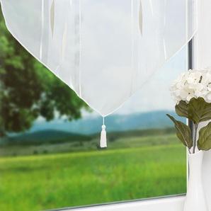 Scheibengardine von LYSEL® Herbstwind (Bx H) 60cm * 80cm weiß