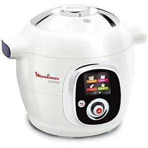 Moulinex CE704110 Cookeo Multikocher (800W, französische Version) weiß/chrom (Zertifiziert und Generalüberholt)