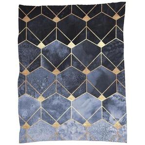 Blue Hexagons and Diamonds - Fleecedecke