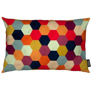Colorful Beehive Pattern - Kissen
