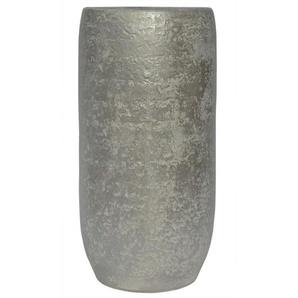 RATTERMANN Keramik Vase /Bodenvase H 70 /Ø 23 PEARL Silberfarbig/Perlmutt