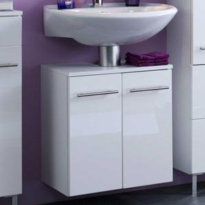Waschbeckenschrank in Weiß Hochglanz