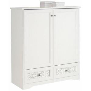 Home affaire Wäscheschrank »Lucy« 2trg., mit 2 Schubladen, Breite 117 cm, weiß
