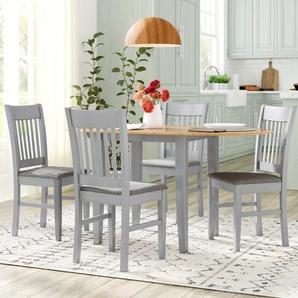 Essgruppe Bouvet mit ausziehbarem Tisch und 4 Stühlen