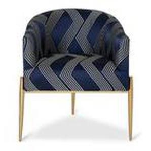 Agosta - Sessel blau-weiß gestreift Satinbezug