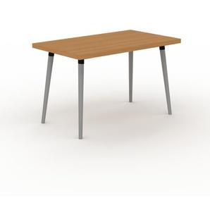 Designer Esstisch Massivholz Eiche, Holz - Individueller Designer-Massivholztisch: Einzigartiges Design - 120 x 75 x 70 cm, Modular