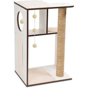 Vesper Kratzbaum Box Large 76 cm x 11,5 cm x 50 cm Weiß