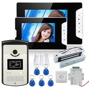 HD 720P Wireless Password Video Door Phone Doorbell Intercom System Night Vision + Electric Magnetic Door Lock 180KG+Waterproof Access Control