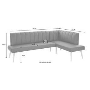 exxpo - sofa fashion Eckbank, braun, Kunstleder SOFTLUX®, 157 cm x 92 cm x 245 cm
