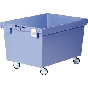 BITO-Lagertechnik Mehrwegbehälter MB Deckel/Bügel/Kufe / MB 86421DRG 800x600x423 taubenblau Doppel