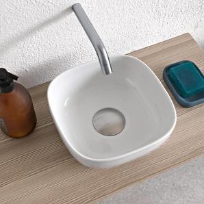 Scarabeo Glam 22 Aufsatzwaschbecken weiß, B22,5 x T22,5 x H11 cm