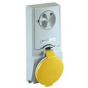 SCHNEIDER ELECTRIC Anbausteckdose verriegelt, 32A, 3p+E, 100-130 V AC, IP44