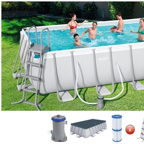 BESTWAY Set: Framepool »Power Steel™«, 6-tlg., BxLxH: 244x488x122 cm