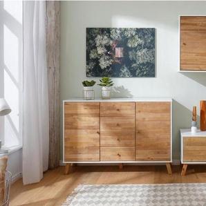 Home Affaire Hängeschrank »Rondo«, mit Holztür und einem Einlegeboden, aus Massivholz, Breite 65 cm, weiß