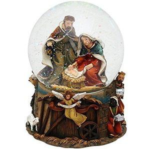 Unbekannt Sigro Heilige Familie Snow Globe mit Musical Mechanismus, 14,5x 11cm, Mehrfarbig