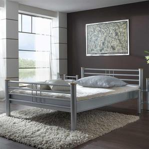 Jugendbett in Silber modern