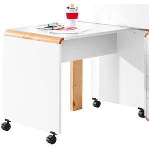 vito Schreibtisch SAM MDF Weiß/Buche ca. 80 x 60 x 63 cm