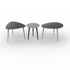 Couchtisch Schwarz - Eleganter Sofatisch: Beste Qualität, einzigartiges Design - 59/40/67 x 44/44/44 x 61/40/50 cm, Konfigurator