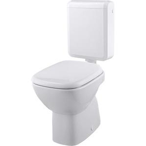 Stand-WC-Set Tiefspüler Weiß Abgang senkrecht