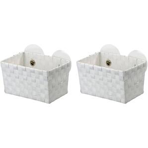 WENKO Aufbewahrungsboxen »Fermo White«, mit Static-Loc, 2er-Set