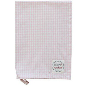 Krasilnikoff- Geschirrtuch - Küchentuch - Trockentuch - rosa-weiß-kariert - 100% Baumwolle 50 x 70 cm