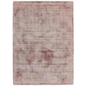 Handgefertigter Teppich Brody in Rosa