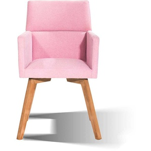Armlehnstuhl in Pink Stoff modern