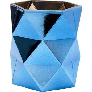 Teelichthalter Rhomb Blau 11cm