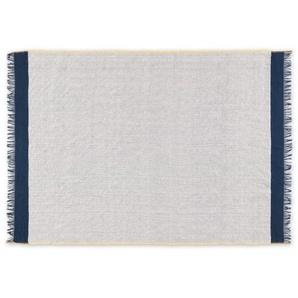 Elke Decke (130 x 170 cm), Blau und Senfgelb