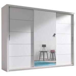 JUSTyou Vista 250 Schwebetürenschrank Kleiderschrank Garderobe Garderobensetnschrank Schlafzimmer Weiß