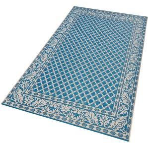 Bougari Teppich »Royal«, 160x230 cm, 4 mm Gesamthöhe, blau