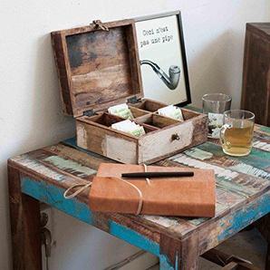 Schmuckkästchen Tee-Box Holzkiste Aufbewahrungsbox aus Altholz vintage Shabby-Chic Color