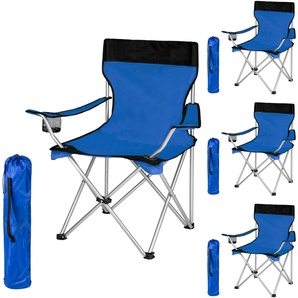 4 Campingstühle blau