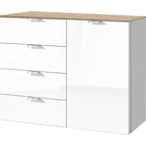 Kommode mit Weißglas »fontana«, Breite 100cm/Höhe 80cm, FSC®-zertifiziert, set one by Musterring