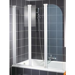 Schulte Badewannenaufsatz Komfort 3-tlg. Echtglas Alpinweiß 140 cm x 125 cm