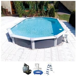KWAD Ovalpool »Steely de Luxe«, 5-tlg. BxLxH: 610x370x130 cm