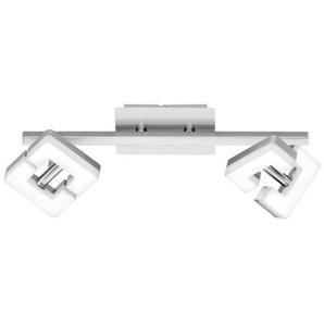WOFI LED Deckenlampe / 2 Strahler ZARA Nickelfarbig