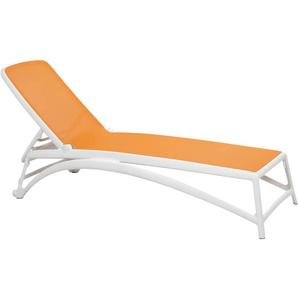 Nardi Atlantico Rollliege Kunststoff/Textilene Weiß/Orange