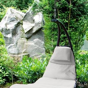 LECO Gartenliege »Hängeliege Dream«, Stahl/Textil, schwarz/dunkelrot, inkl. Auflage