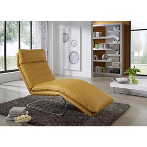 die sofa manufaktur Relaxliege JOSIE Lederbezug Sunrise ca. 65 x 101 x 158 cm