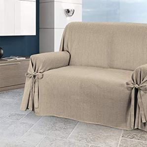 Sofabezug mit Bindebändern, Design Lord, Modell: O.B. 2 Posti Taupe