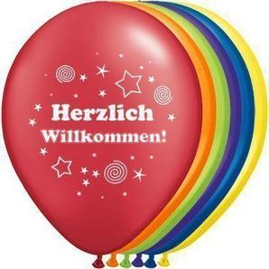 Luftballons Herzlich Willkommen Ø 30 cm 10 Stück - partydiscount24®