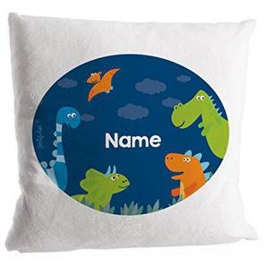 Striefchen® Kuschelkissen - Treffen der niedlichen Dinos - mit Namen des Kindes