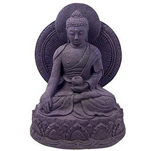 Mysale24 Buddha | Skulptur | Sandguss aus Lavasand | ca. 21 cm | aus Indonesien
