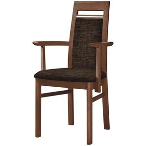 Stuhl Buche nussbaum natur Stoff braun,  Cristal ¦ braun Stühle  Esszimmerstühle  Esszimmerstühle ohne Armlehnen » Höffner