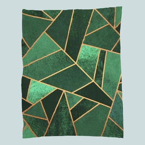 Emerald and Copper-Fleecedecke