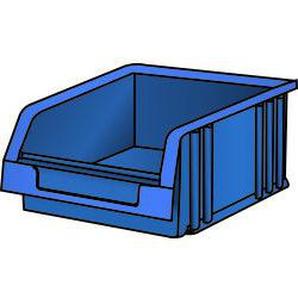 LISTA Lagersichtbehälter (BxTxH) 101x90x50mm Grösse 2 blau