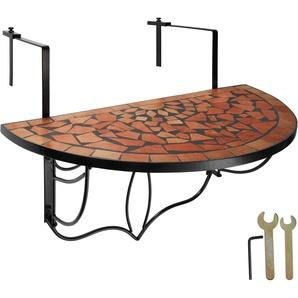 Balkontisch Mosaik klappbar terracotta