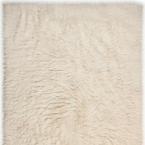 Flokati, natur, Gr. 160/230 cm, Theko die Markenteppiche, Material: Schurwolle