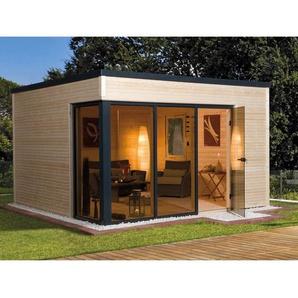 Weka Design-Holz-Gartenhaus Cubilis A NaturBxT: 380 cm x 300 cm